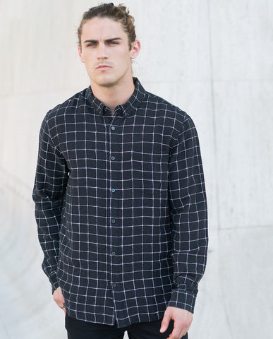 Neuw Black Check LS Shirt