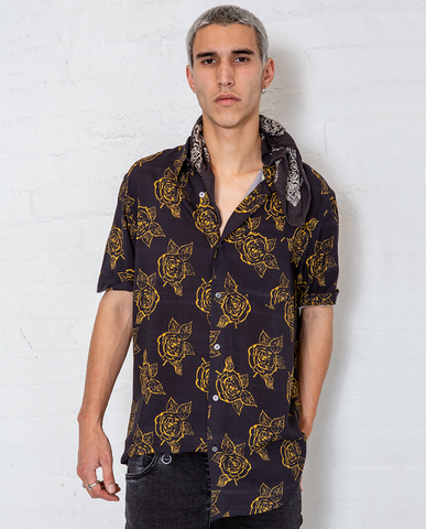 Neuw Black Rose Buttonup