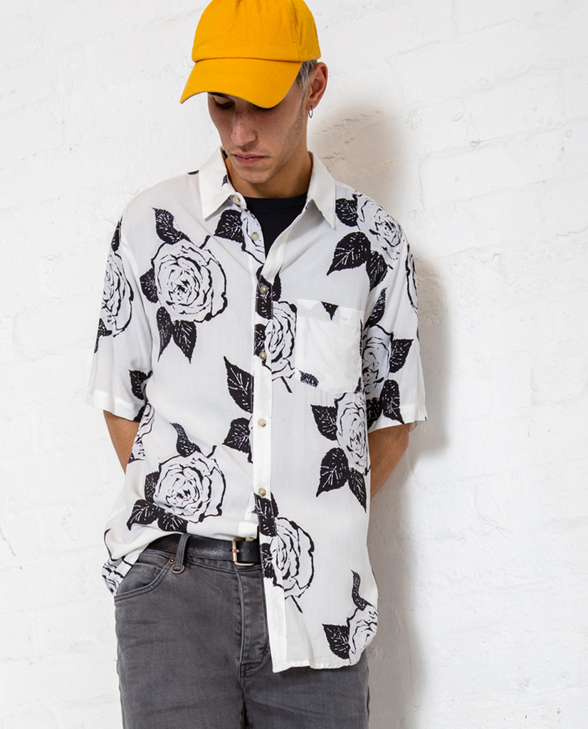 Neuw White Rose Buttonup