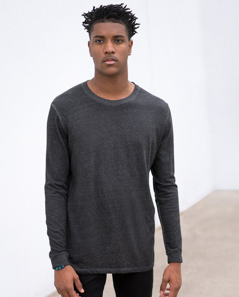 AAURA OIL WASH GREY LS SHIRT