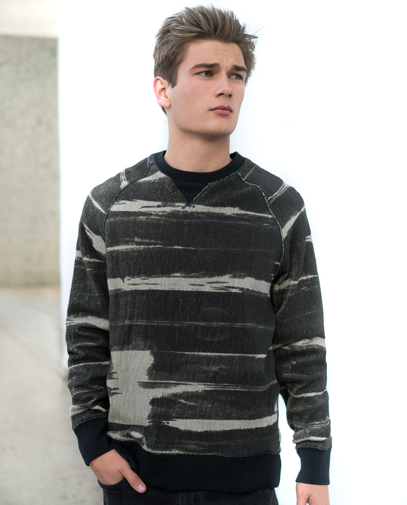 Oxford Lads Variegated Stripe Sweatshirt