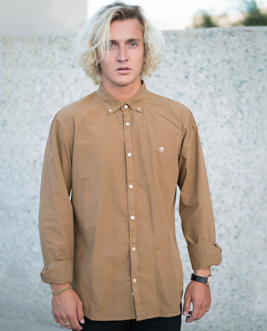 Riverside Poplin Shirt Gold