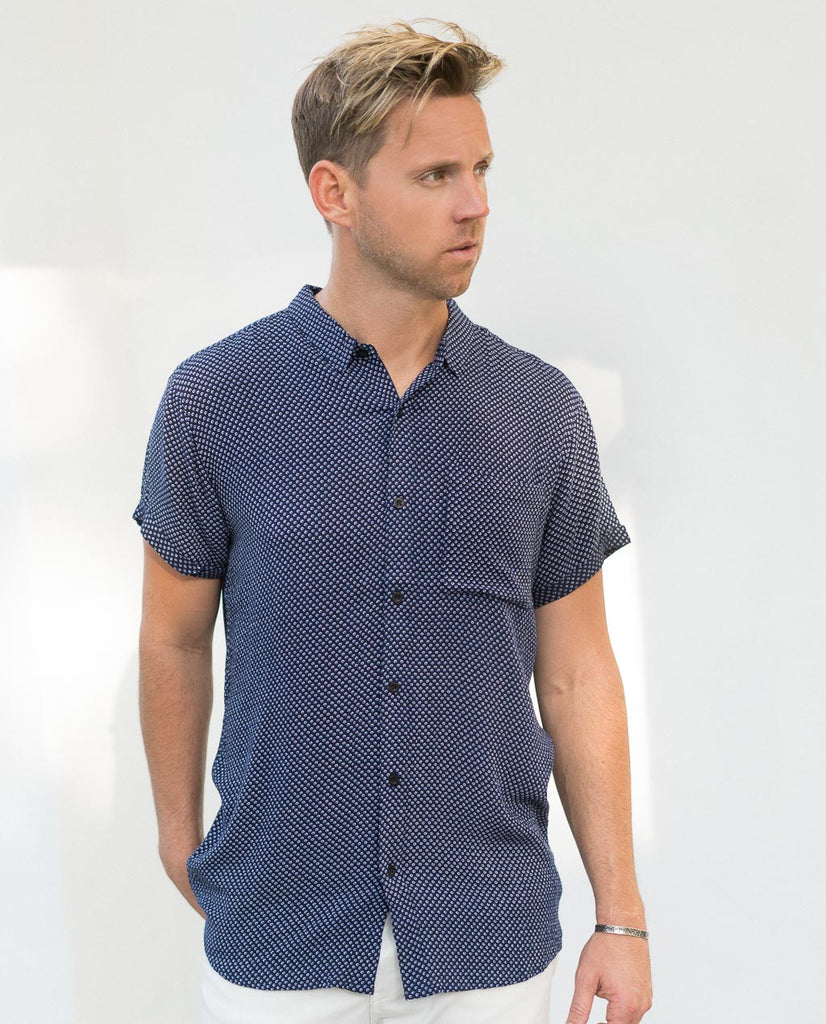Rollas Beach Boy Shirt Dreamtime Navy