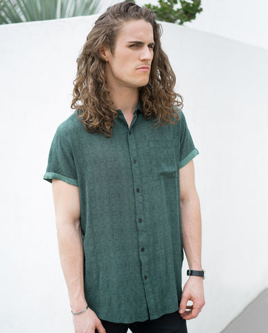 Rollas Beach Boy Shirt Ripper Green