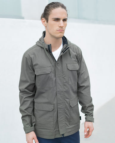 Tavik Four Pocket Hooded Light Jacket Olive