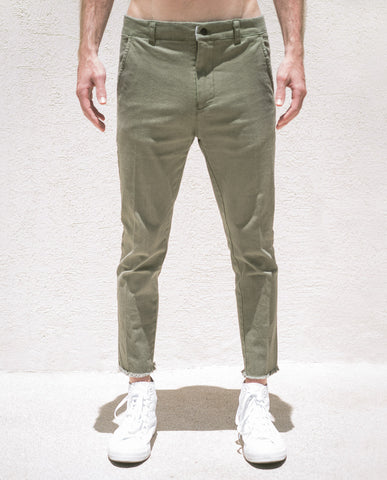 The People Vs SURPLUS GREEN LOUIE CROPPED PANT