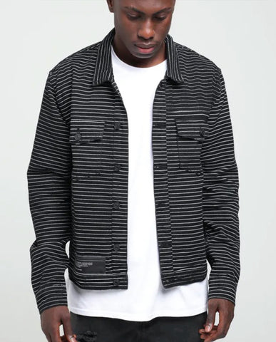 nANA JUDY Astor Black White Stripe Jacket