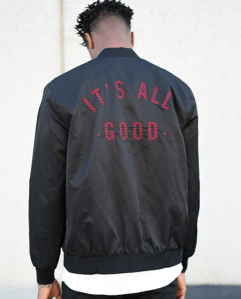 nANA jUDY It'S All Good Bomber Jacket Embroidered Back