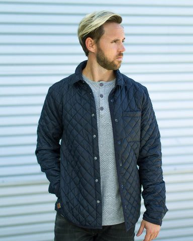 Lightweight Navy Quilted Jacket