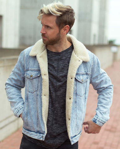 Copy of Rollas Acid  Denim Sherpa