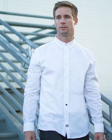 WEEKEND OFFENDER Alver White Buttonup