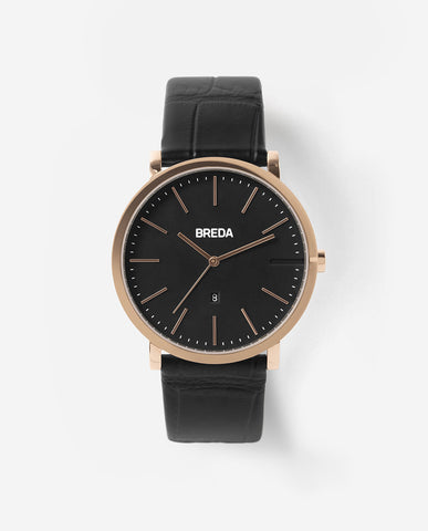 BREDA BREUER Rose Gold / Black Watch