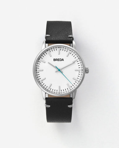 Breda Zapf Silver-Black Watch