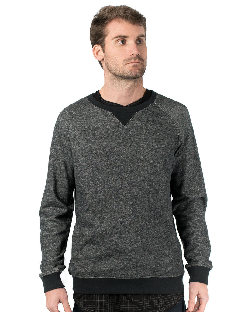 Black Heathered Denim Sweatshirt