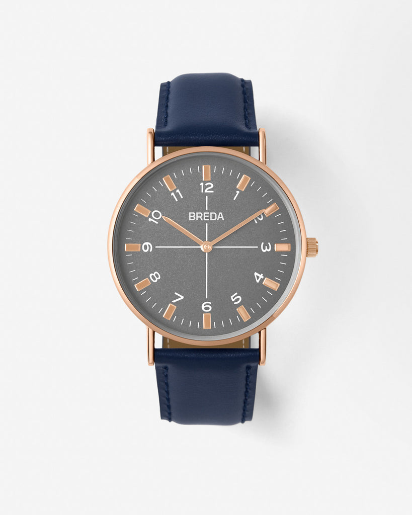 Breda Belmont Navy-Gold Watch