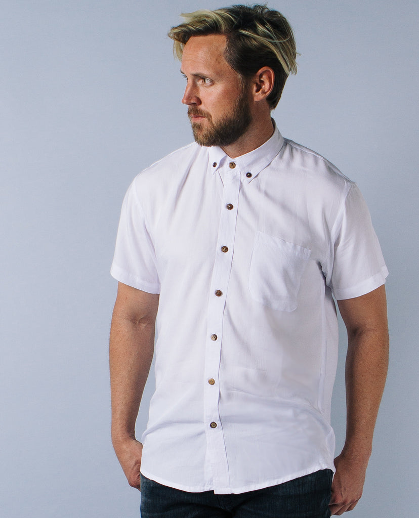 HANDSOME ME | Casual White Buttonup