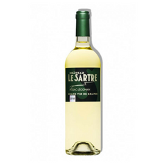 This wine has a bright yellow colors with green hue. Chateau Le Sartre Blanc 2010 is excellent with well concentrated aromas, touch of oak, grapefruit, physalis (Cape gooseberry). On the palate, this wine is elegant and crisp with medium weight and good length.