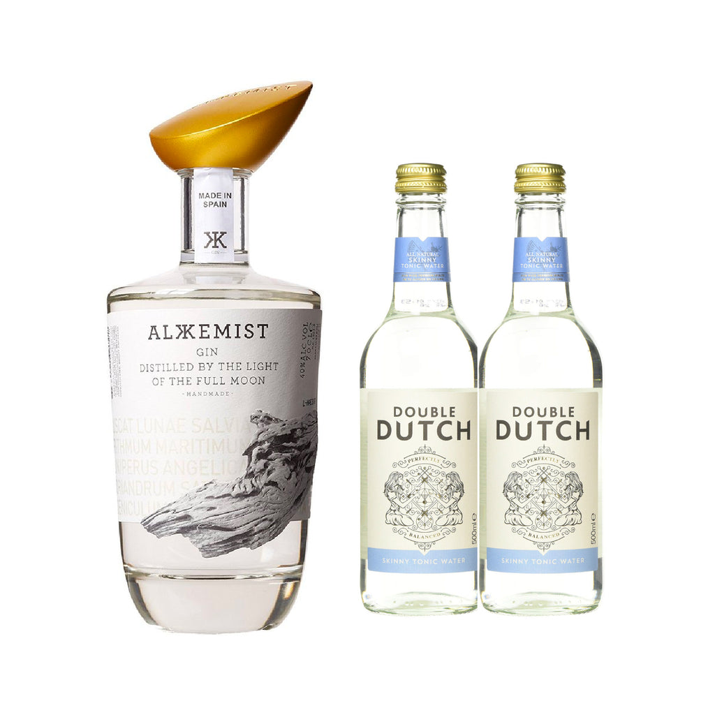 ALKKEMIST GIN *Free 2 btls of DOUBLE DUTCH SKINNY TONIC WATER 200ml worth $5.60