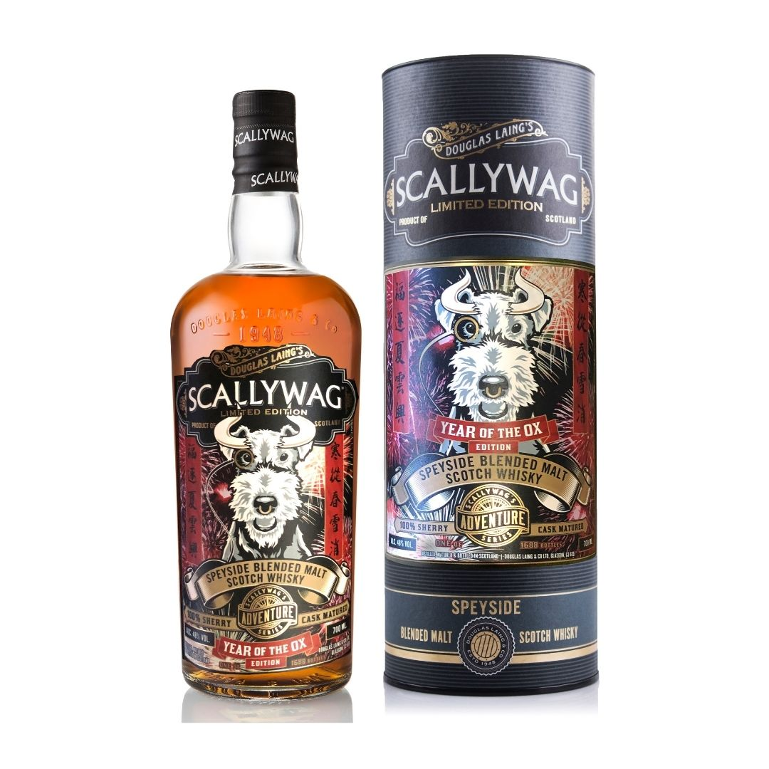 DOUGLAS LAING SCALLYWAG SPEYSIDE BLENDED MALT SCOTCH WHISKY - YEAR OF OX EDITION (WHILE STOCKS LAST)