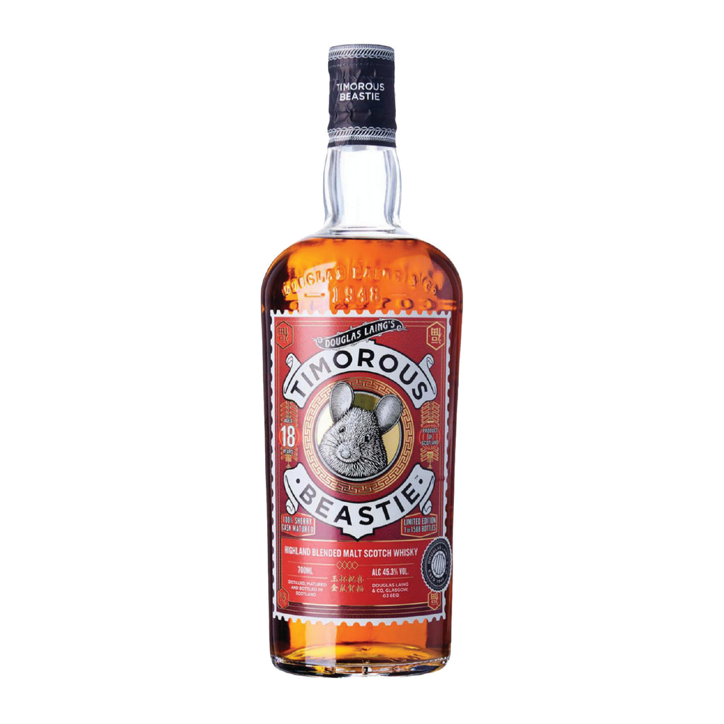 DOUGLAS LAING TIMOROUS BEASTIE 18 YEARS OLD WHISKY