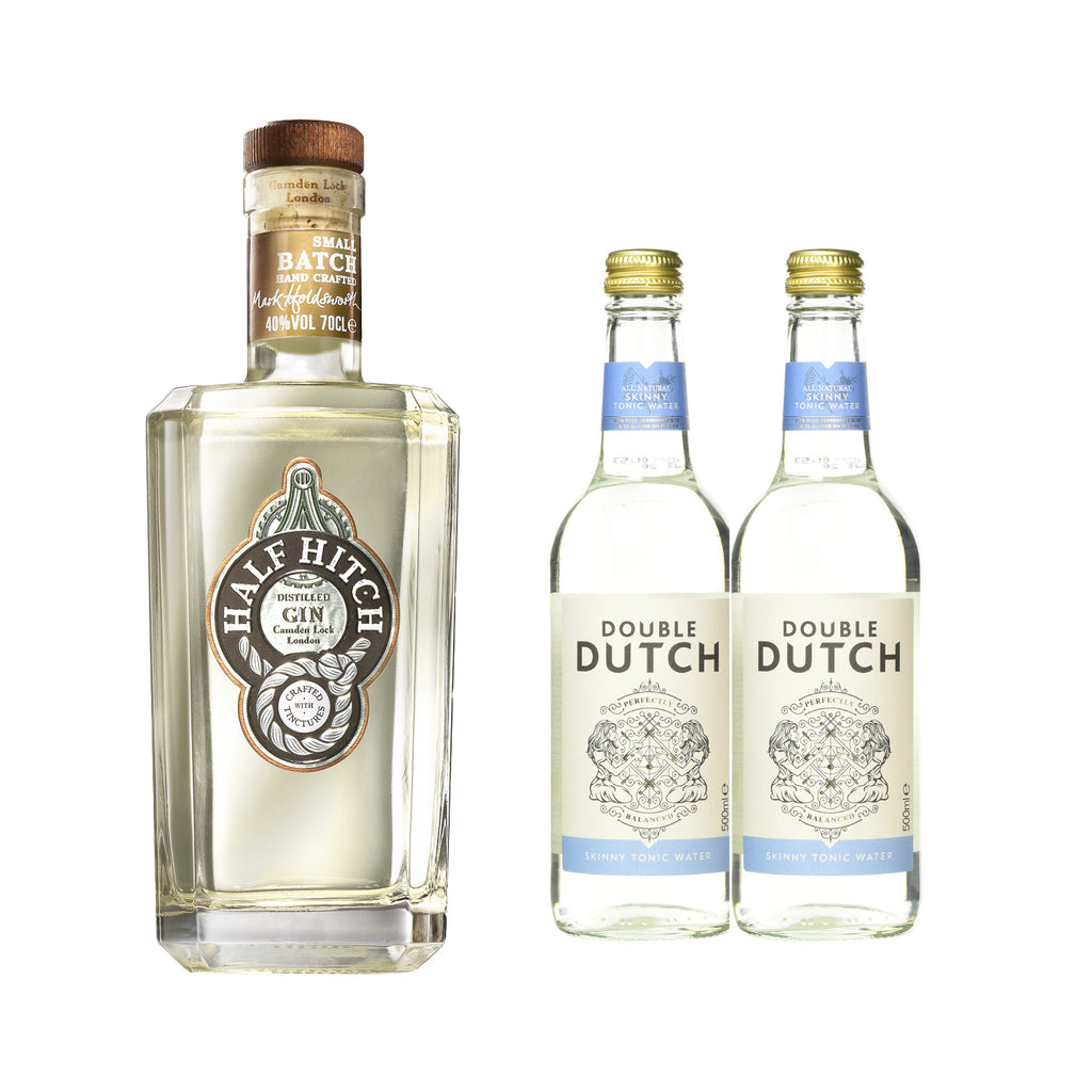 HALF HITCH GIN *Free 2 btls of DOUBLE DUTCH SKINNY TONIC WATER 200ml worth $5.60