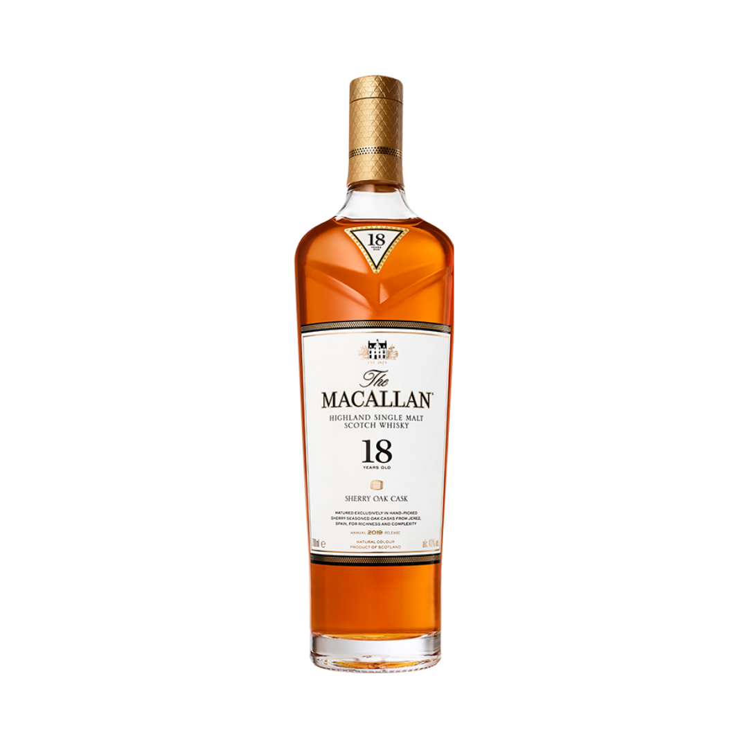 MACALLAN WHISKY 18 YRS SHERRY OAK