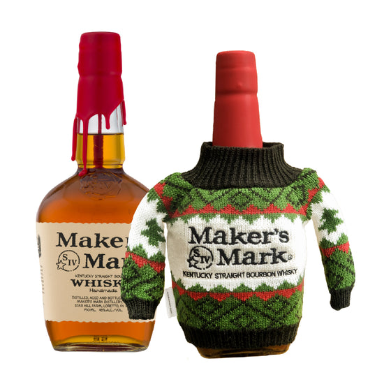 MAKER'S MARK BOURBON WHISKY (2 BTLS) WITH Maker's Mark Christmas Sweater