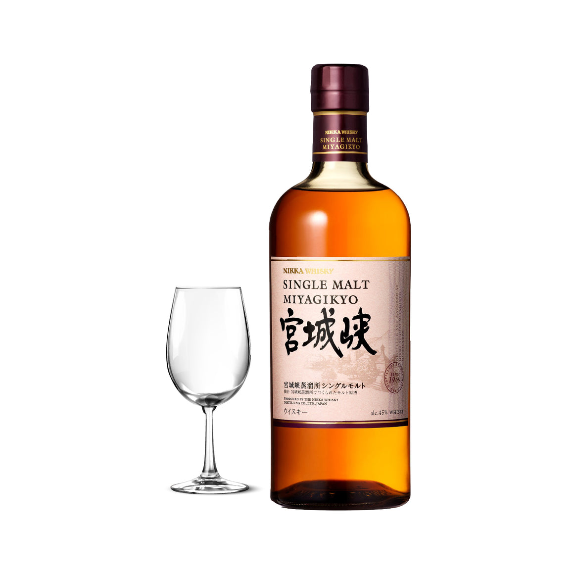 NIKKA MIYAGIKYO SINGLE MALT *free 1 Nikka Tasting Glass