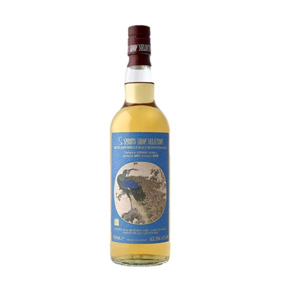 LEDAIG 12 ANS 2005 THE PEACOCK'S TAIL DONG FANG MING HUA YANG WHISKY (LIMITED STOCK)