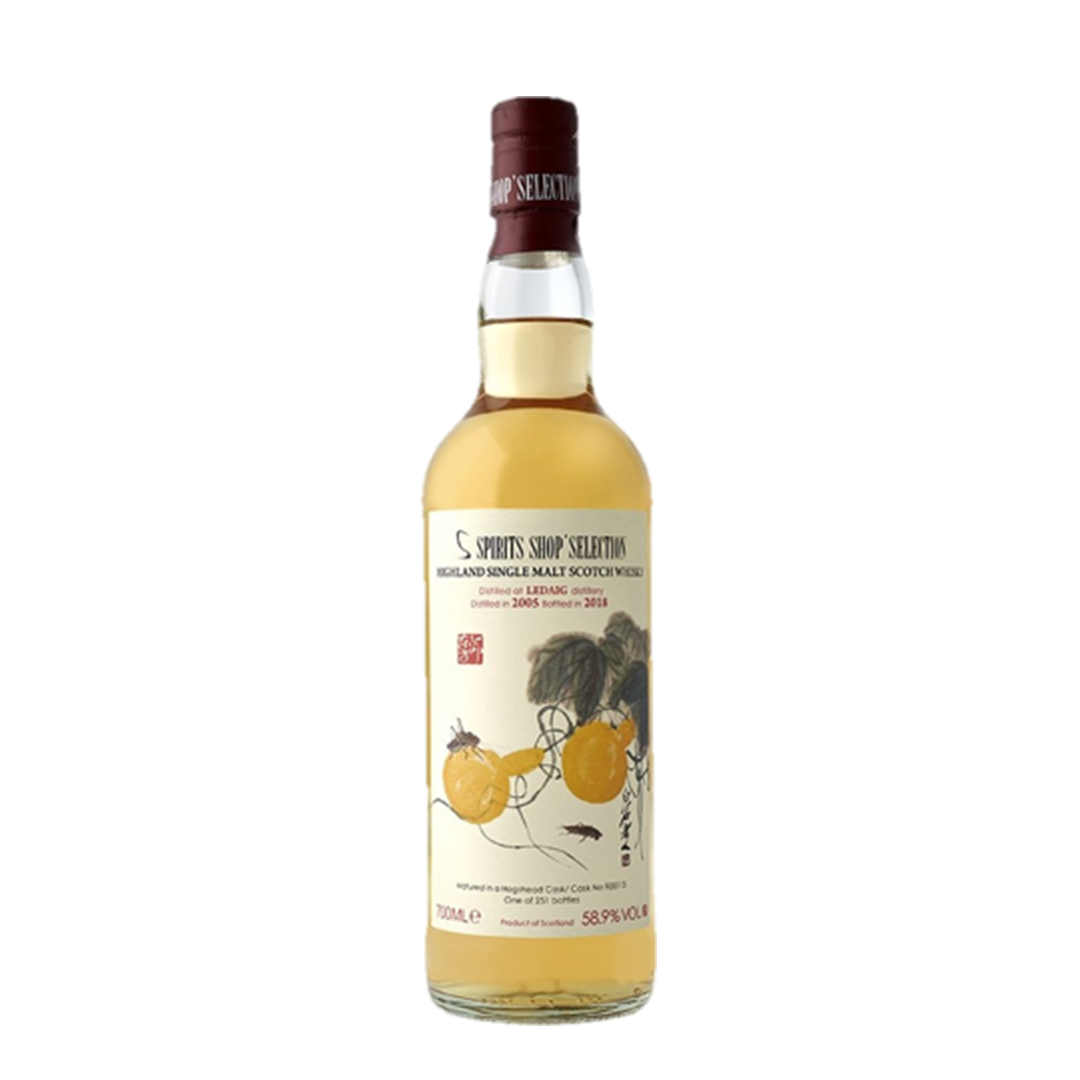 LEDAIG 12 ANS 2005 GOURDS AND GRASSHOPPER DONG FANG MING HUA YANG WHISKY (LIMITED STOCK)