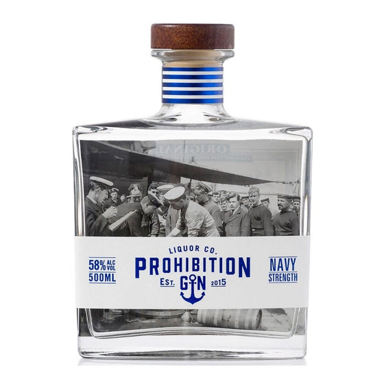 PROHIBITION NAVY STRENGTH GIN 500ML
