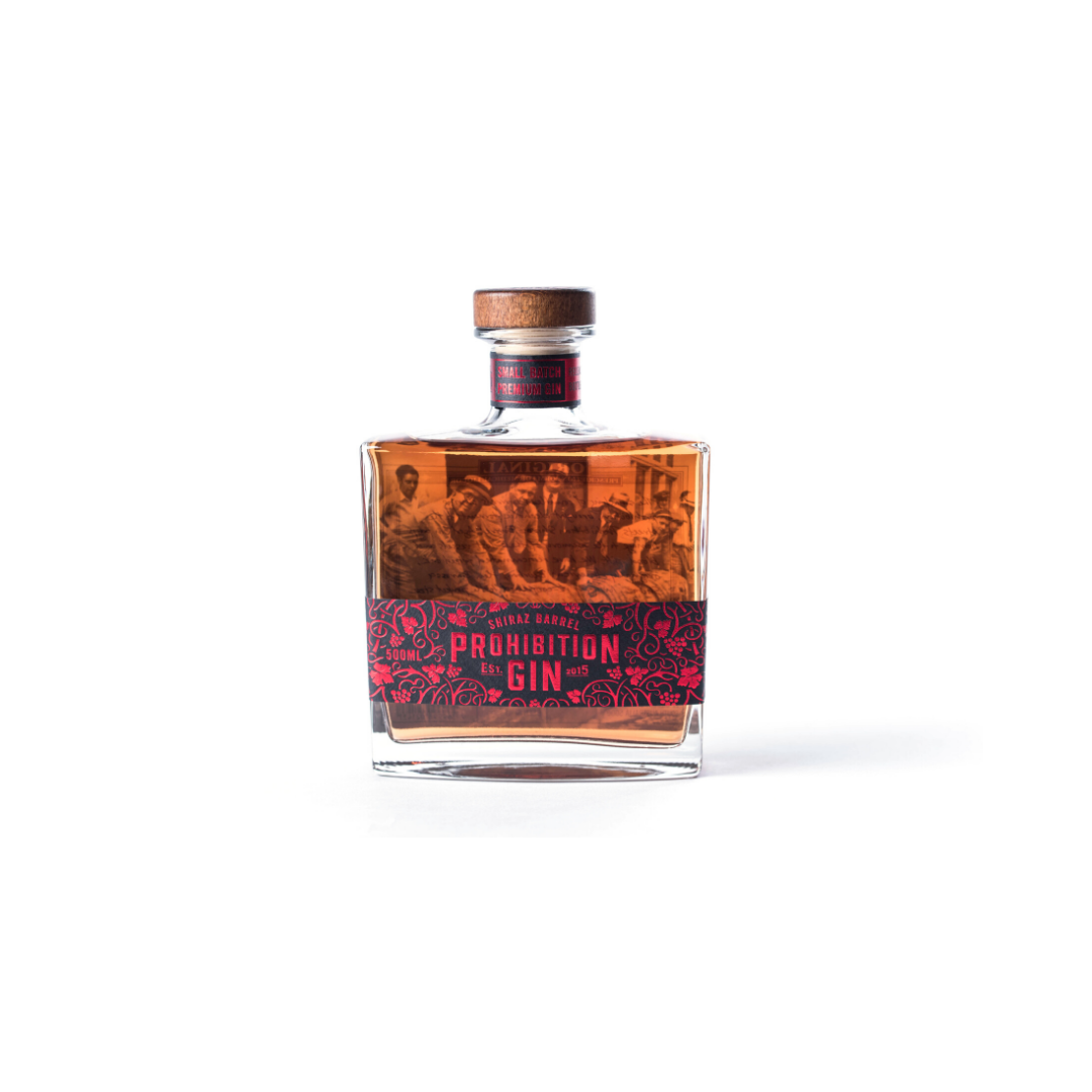 PROHIBITION SHIRAZ BARREL GIN 60% 100ML
