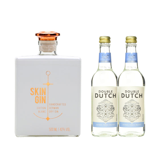 SKIN GIN (Free 2 btls of DOUBLE DUTCH SKINNY TONIC WATER 200ml worth $5.60)
