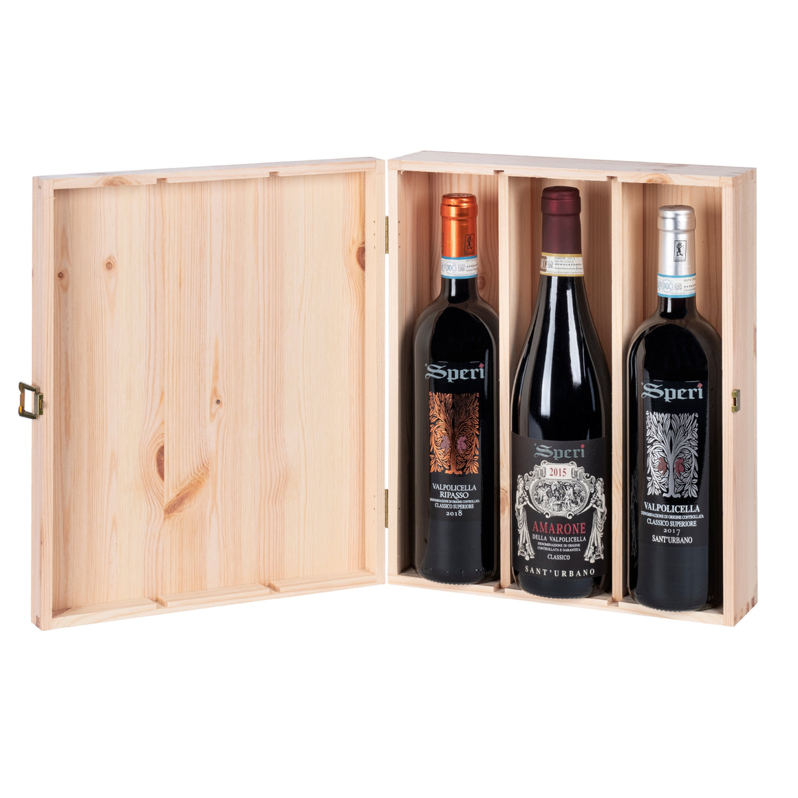 SPERI TRIPLE BOTTLE GIFT SET IN WOODEN BOX