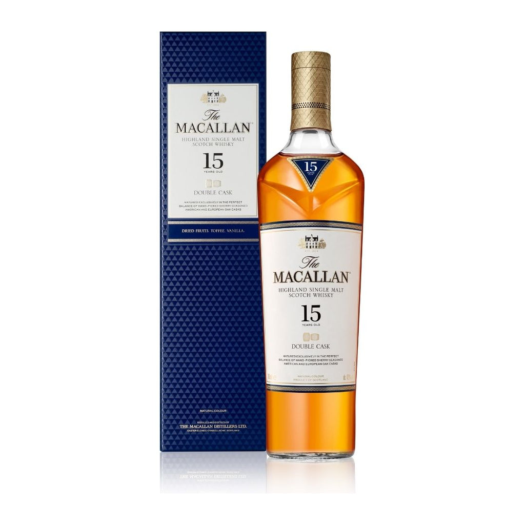 THE MACALLAN DOUBLE CASK 15 YEARS OLD SINGLE MALT WHISKY 700ML (PREORDER 1 WEEK)
