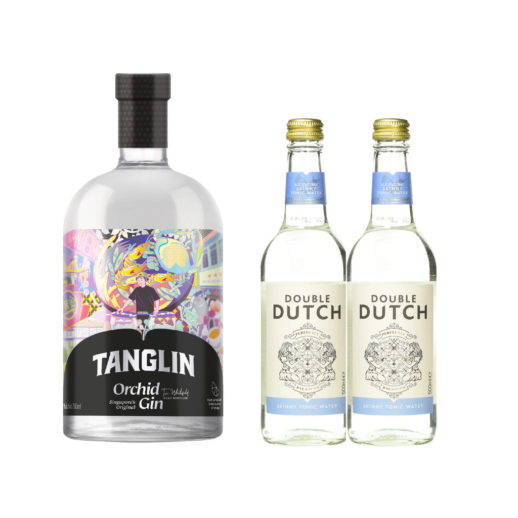 TANGLIN ORCHID GIN *Free 2 btls of DOUBLE DUTCH SKINNY TONIC WATER 200ml worth $5.60