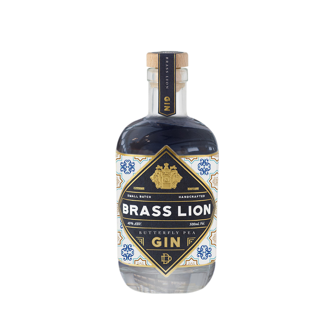 BRASS LION BUTTERFLY PEA GIN 500ML