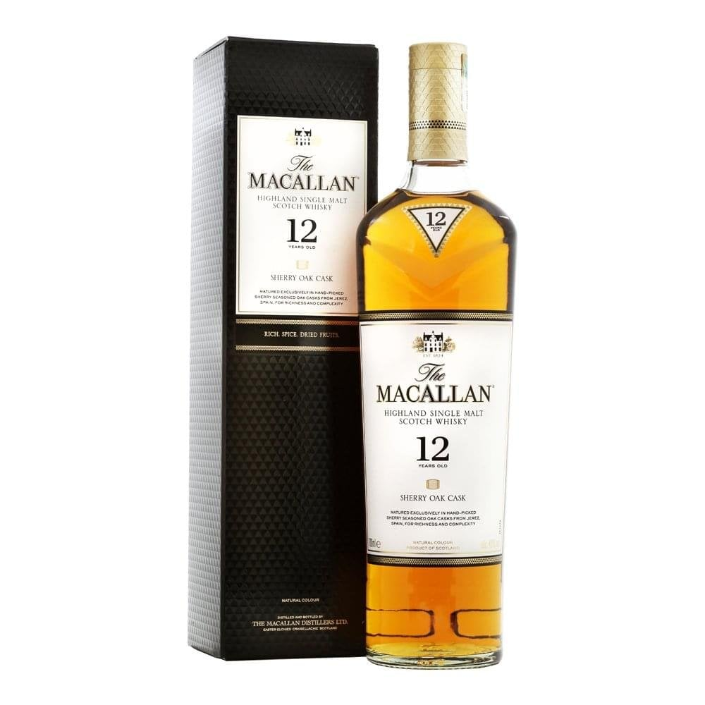 THE MACALLAN WHISKY 12 YEAR OLD SHERRY CASK 40%