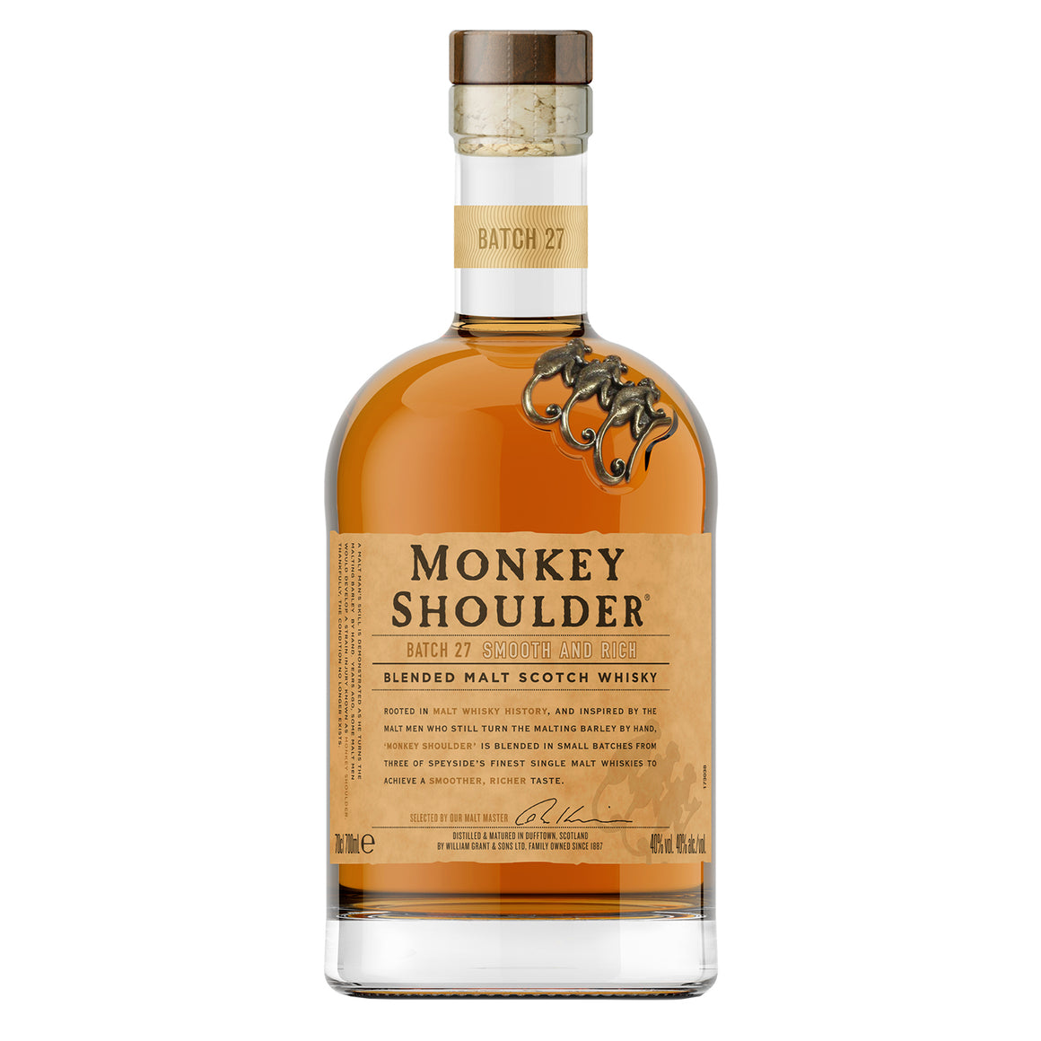 MONKEY SHOULDER BLENDED MALT SCOTCH WHISKY W/ COMPLIMENTARY SPEED POURER & KEYCHAIN