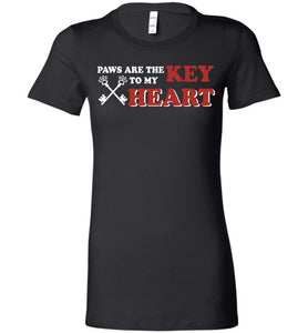 Paws Are The Key To My Heart Dog T-shirt - OlalaShirt