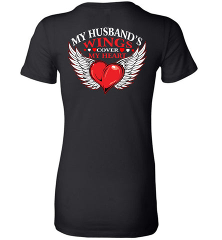 Image of My Husband's Wings Cover My Heart - OlalaShirt