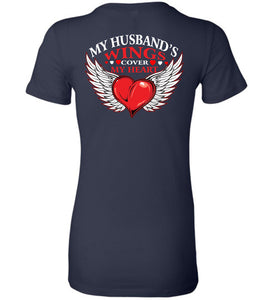 My Husband's Wings Cover My Heart - OlalaShirt