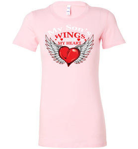 My Son's Wings Cover My Heart - OlalaShirt