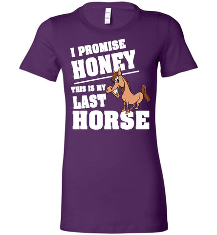 Image of I Promise Honey This Is My Last Horse T-Shirt