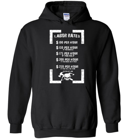 Image of Carpenter Labor Rates Funny Woodwooking Hoodie - OlalaShirt