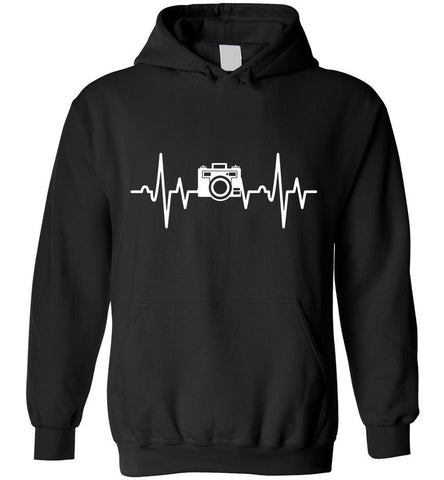 Photographer Heartbeat Photography Gift Hoodie