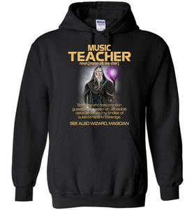 Music Teacher Someone Who Does Precision Hoodie - OlalaShirt