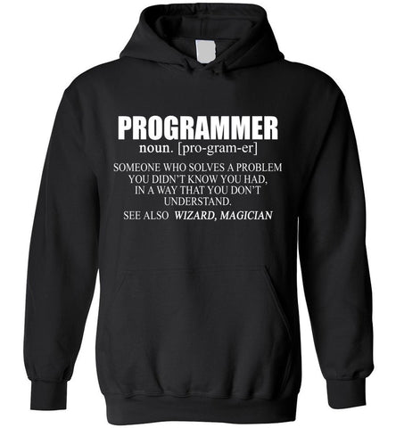 Funny Programmer Meaning Programmer Noun Defintion Hoodie