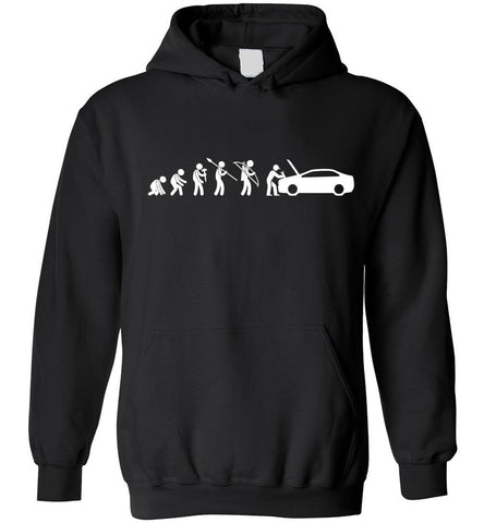 Image of Evolution Mechanic Funny Automotive Technician Gift Hoodie