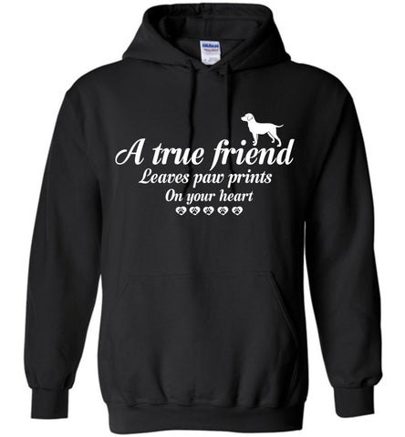 Image of True Friend Leaves Paw Prints Dog Hoodie - OlalaShirt